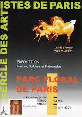 2004 - Exposition C.A.P. au Parc Floral de Paris