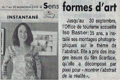 Exposition d'Iso à l'office de tourisme de Sens - Septembre 2008