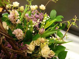 корзинка цветов.