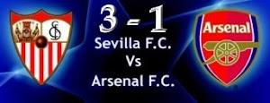 Sevilla FC  y Arsenal .Un gran triunfo en Champions que no olvidamos