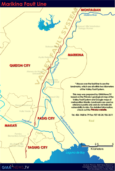 Valley Fault System or Marikina Fault System