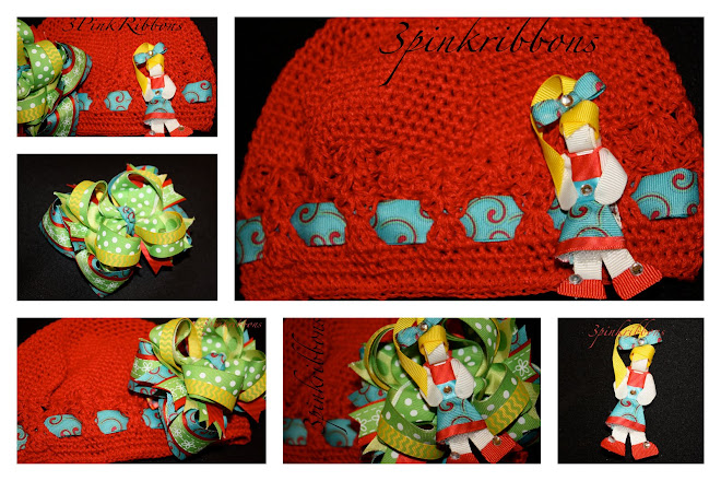The Perfect Beanie, Layered Loopy Bow and Ribbon Art Clippie