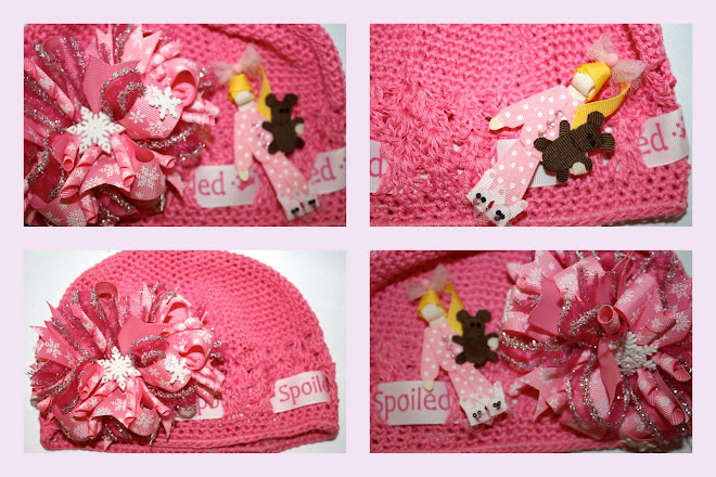 Cold Winter Morning!  3 in 1 Beanie, Bow, Clippie