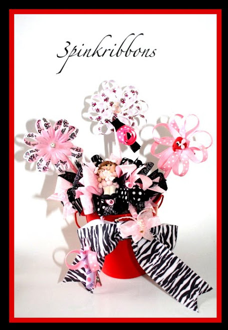Pink and Pretty Princess Bouquet of Hair Bows!