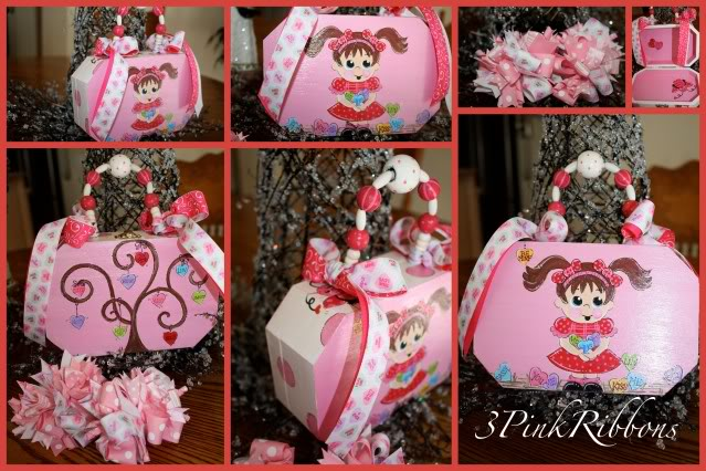 Conversation Hearts Treasure Keeper Tote and Funky Loopy Hair Bows
