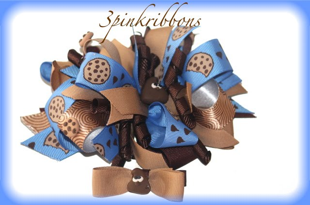 Hershey Kiss Boutique Loopy Hair Bow and Clippie
