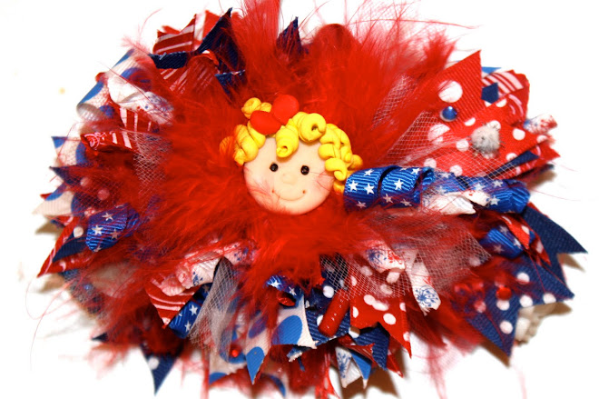 Patriotic Princess 3 in 1 combo Hair Bow Set
