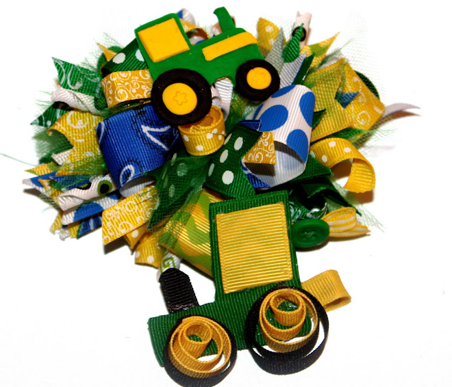 John Deere Darling Hair Bows!