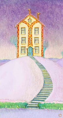 Spring Snow at Necky Knoll House by Ingrid Sylvestre North East Giraffe artist author and entertainer Durham UK