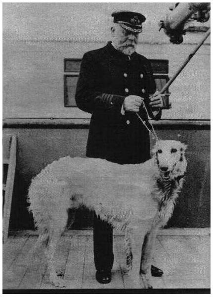 Edward John Smith y su perro.