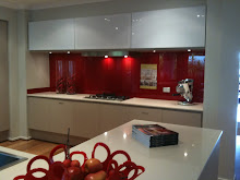 Red Glass Splash Back