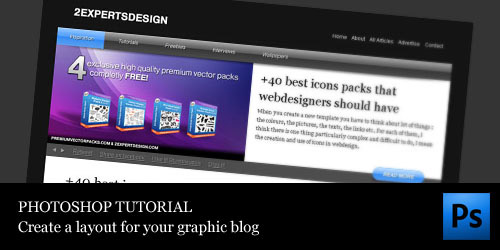 How to do a fancy layout for a graphic design blog Photoshop tutorial