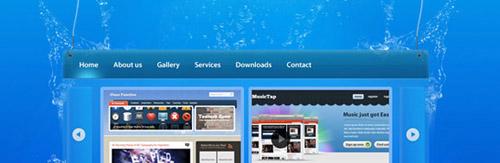 Underwater Content Box Design Photoshop tutorial