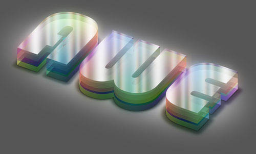 Colorful Plexi Text Effect using Photoshop tutorial