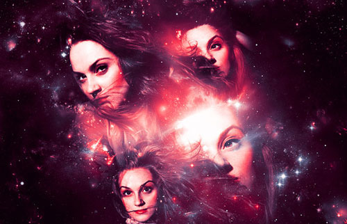 Create a Magical Four Piece Stardust Composition Photoshop tutorial