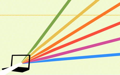 Retro laptop wallpaper