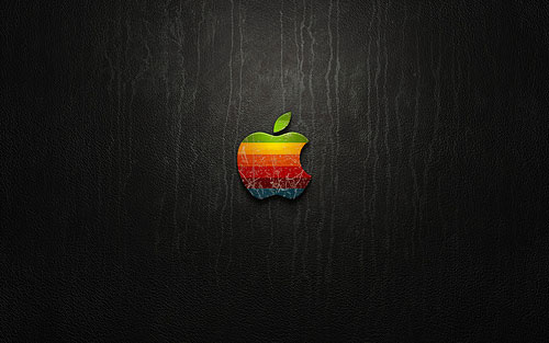 apple black wallpaper