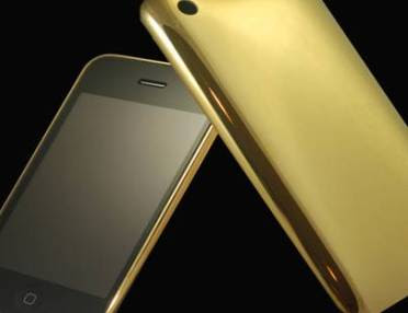 Goldstriker iPhone 3G 24ct ful gold edition