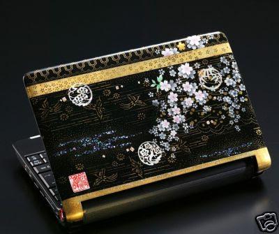 Aspire One Netbook painted in kyo yuzen