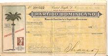 Cheque partido dominicano