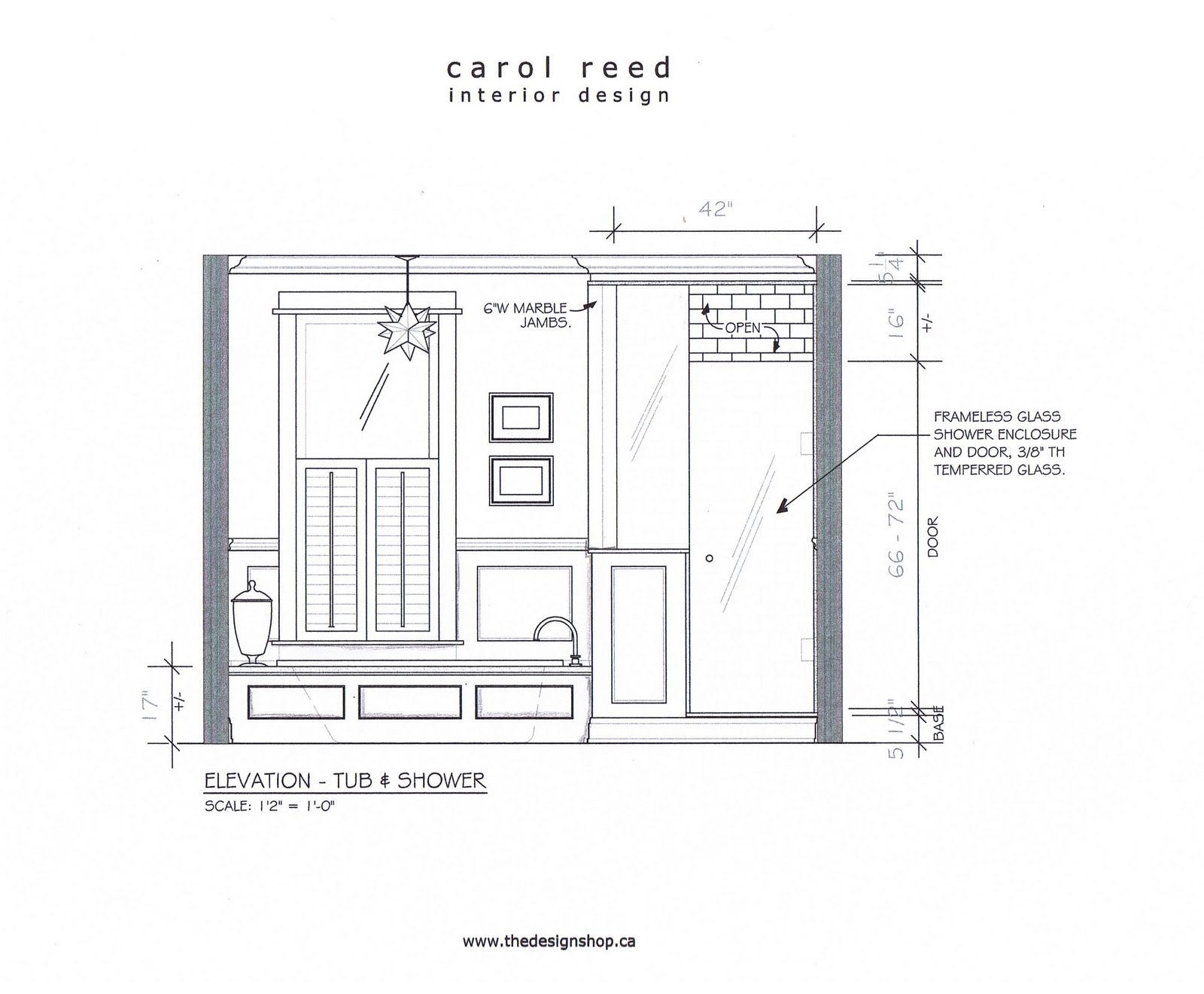 Creed before after e design bathroom project for Window design elevation