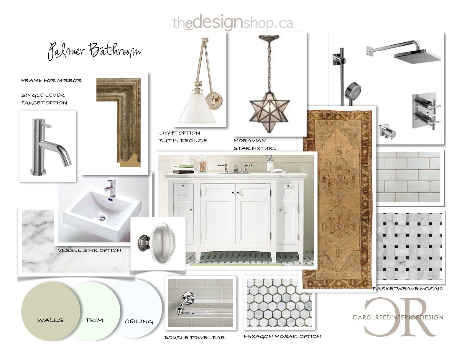 Bathroom Design Board creed: before & after: e-design bathroom project