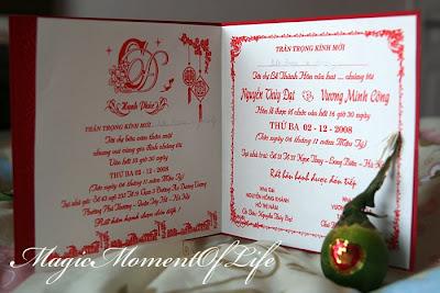 traditional vietnamese wedding invitations. for a traditional yet, Wedding invitations