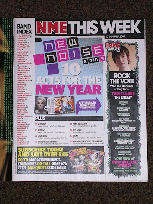 This contents page is part of the magazine NME.