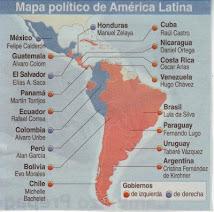MAPA POLITICO DE AMERICA LATINA...