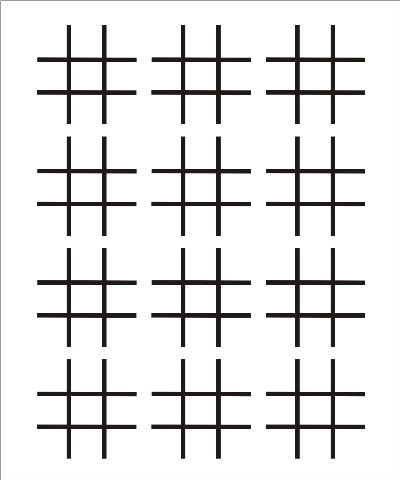 Blank Tic Tac Toe Template  White Gold