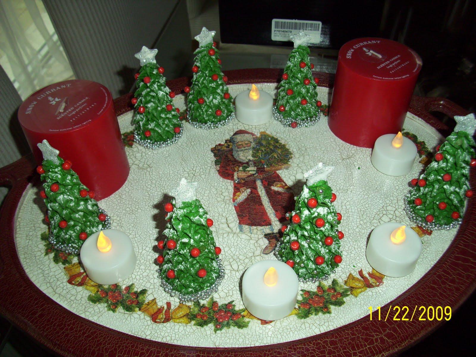 Las creaciones de normita cajas de te bandejas con - Cajas con motivos navidenos ...