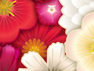 flowers cartoon background. ackground wallpaper flowers.