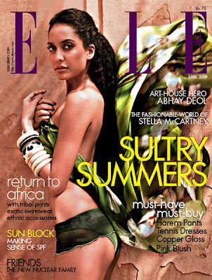 Lisa Haydon pour ELLE India - Avril 2009
