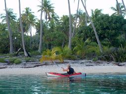 Peter on sunrise kayak trip