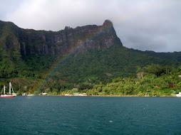 Rainbow over Cooks Bay