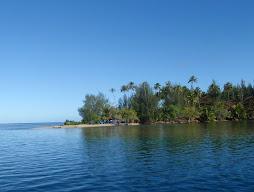 entering a lagoon