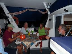 Lovely dinner aboard Albatross II