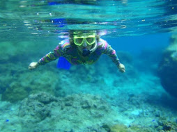snorkelling in the Austin Powers suit
