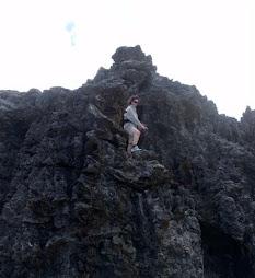 climbing the cliffs