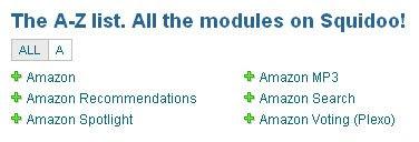 Amazon modules on Squidoo