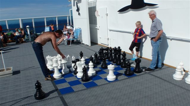 outdoor chess on Hurtigruten
