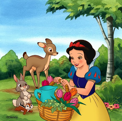 snow white wallpaper. using Photoshop,