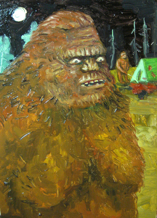 BIGFOOT painting courtesy of the. Genius of Eureka, JESSE WIEDEL