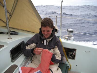 repairing the spare ensign