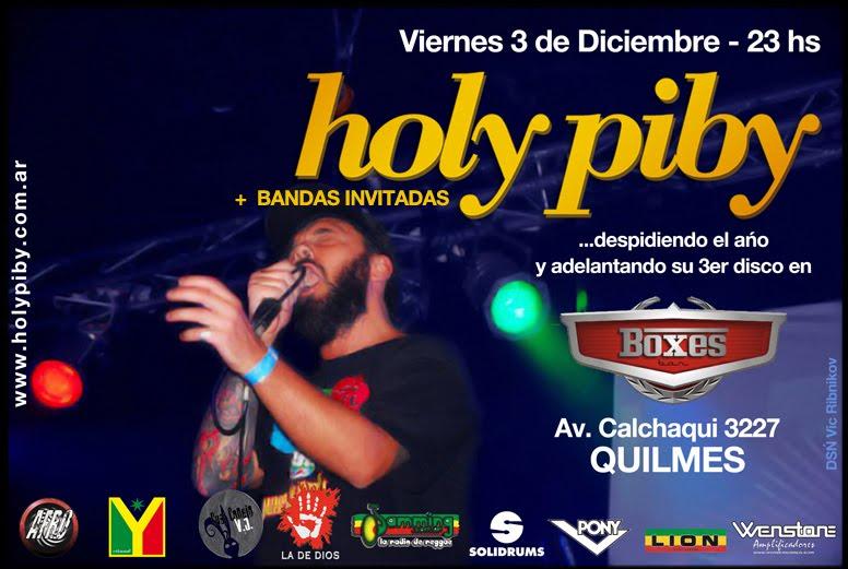 HOLY PIBY - 3 de Diciembre