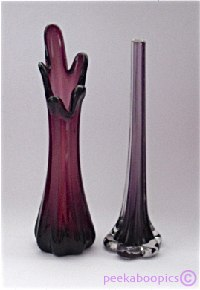Aubergine Dartington Glass Vase Ebay Uk