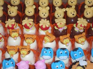 doce trufa decorada ursinho pooh puff tigrão bode leitão