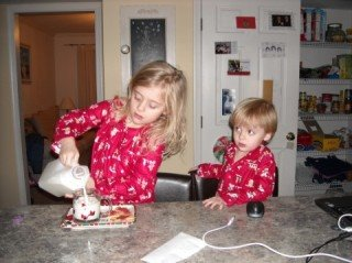 Before bedtime.... better fix Santa's milk and cookies!!!!