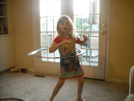 Taylor and her new hula hoop!