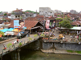 denpasar view from kumbasari traditional market